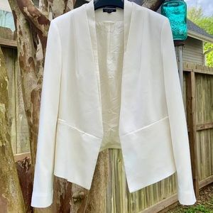 White Asymmetrical blazer large
